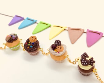 Cute Yummy Cup Cakes Bracelet