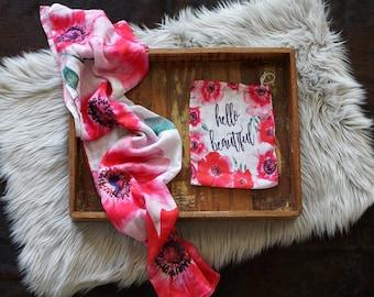 Hello Beautiful  - Muslin Blanket