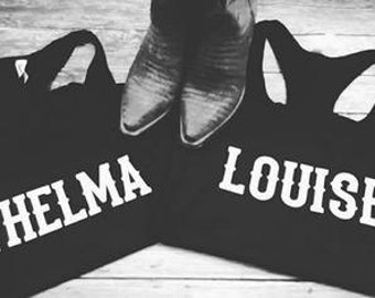 Thelma & Louise tanks, best friend shirts