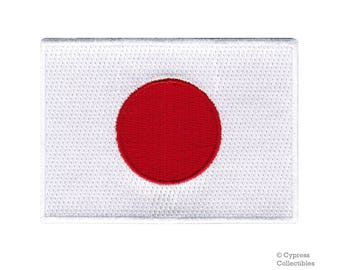 JAPAN FLAG PATCH iron-on embroidered applique Top Quality Japanese National Rising Sun Emblem