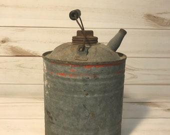 Vintage Galvanized Kerosene Can