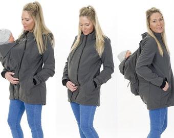Babywearing 4in1 Shoulder Jacket jacket Front + rear star
