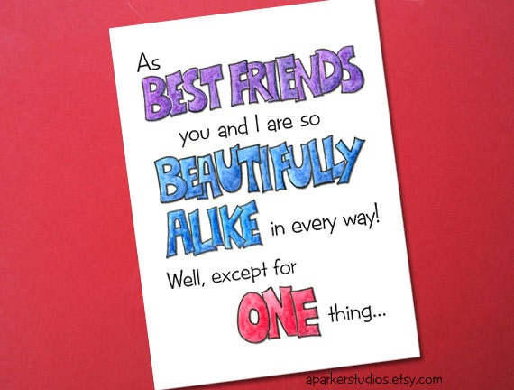 Items Similar To Best Friends Funny Birthday Card Birthday Card For