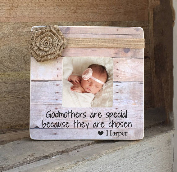 ON SALE Godmother Frame Godmother Gift Godfather Godparents