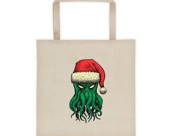 Cthanta (Cthulhu Santa) Tote Bag - Official bag of the Cthulhu cult!