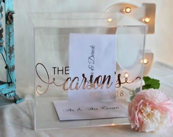 Personalized Wedding Card Box I Acrylic Card Box I Wedding Card Box with Lid | Wedding Money Box | Wedding Card Box | Wedding Card Holder |