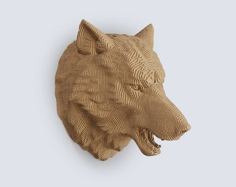 Wolf Head Trophy    - DIY Cardboard Craft