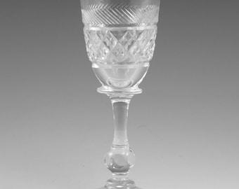 """TUDOR Crystal - HOLBEIN Cut - Liqueur Glass / Glasses - 4"""" (1st)"""