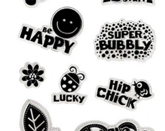 Forever in Time Clear Cling Rubber Stamp Hippy Chick Be Happy Quotes Peace Love