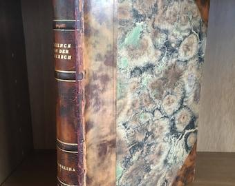 Antique Swedish Leather Bound Book