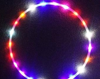 Rainbow Led Polypro hula hoop