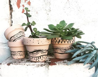HAND painted POTS **
