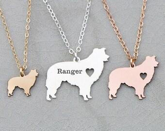 Border Collie Dog • New Family Dog • Dog Memorial Gift • Dog Silhouette Charm • Dog Lover Gift • Animal Farm Dog Herding Dog Gift