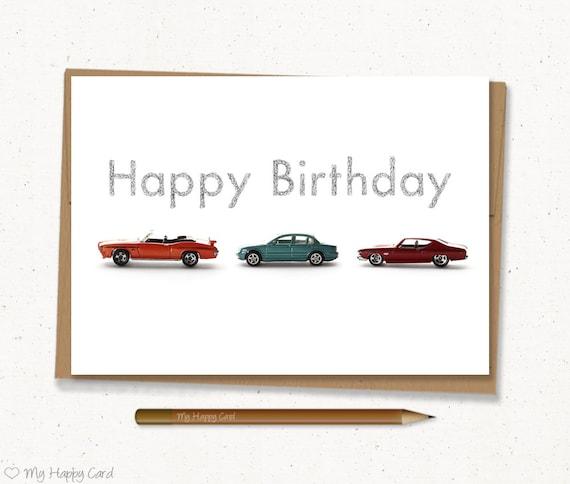 Car birthday card printable 5x7 digital file car birthday card printable 5x7 digital file instant download cars boy birthday man birthday card for him bookmarktalkfo Image collections