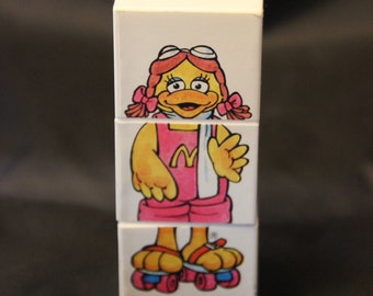 McDonald's Happy Meal Food Changeables Twist block toy, circa 1989
