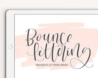 Bounce Lettering Procreate Brush iPad Pro Digital Calligraphy