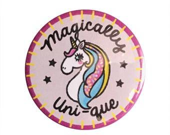 """Magically Uni-que 1.25"""" Button Pin"""