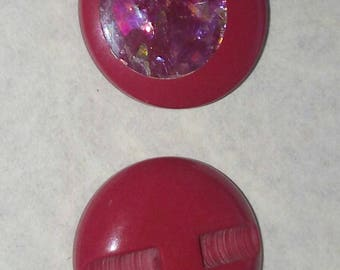 LARGE buttons gradient red SEQUIN VINTAGE 28 mm