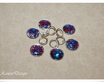 Stitch Markers Knitting Glitter 12 mm Lanyard