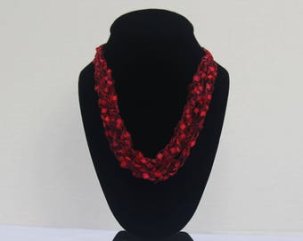 Ruby Lace Necklace