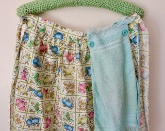 Vintage Aprons, Mid Century Homemaker, Vintage Half Apron, Vintage Hostess, Vintage Linens