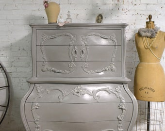 Painted Cottage Chic Shabby French Dresser/ Chest CH954