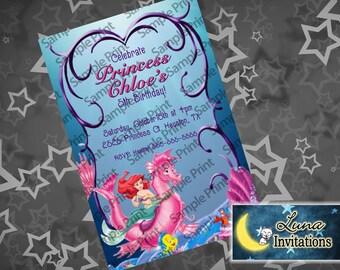Little Mermaid (Ariel) PARTY INVITATION