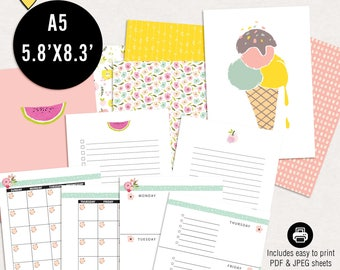 Summer planning kit - Printable a5