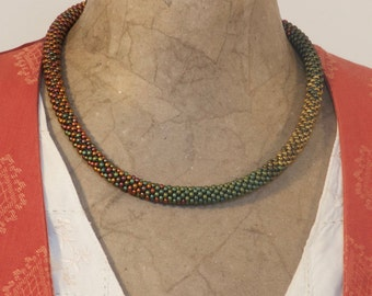 Autumn Bronze & Green necklace