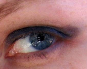 Night Dust Eye Shadow New Dark Metallic Blue by Pink Quartz Minerals Makeup