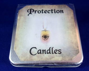 Protection Candles Tin
