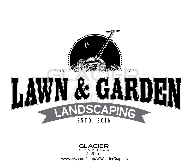 Premade Custom Landscaping Logo Pre-made Lawn Care Logo