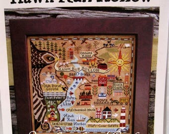 Map of Hawk Run Hollow Counted Cross Stitch Pattern by Carriage House samplings
