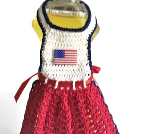 Dish Soap Apron, Patriotic Bottle Apron, Kitchen Dish Soap Bottle Apron, Retro Kitchen Decor, Country Kitchen Decor