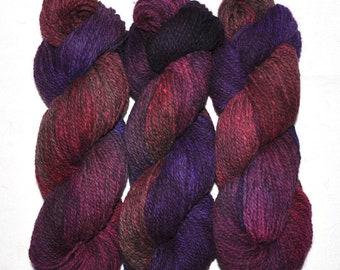 Hand dyed yarn - Alpaca / American wool yarn, Worsted weight, 240 yards - Ollantaytambo