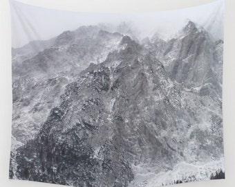 Mountains of Austria, Wall Tapestry, Grey,Snow,Rocks,Modern Wall Art,Home Decor, Home Accessories, Bedroom Art,Unique Design,Interior Design