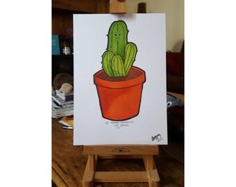 Un Cactus   A4 Colour Print