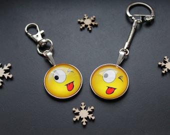Keychain or handbag SMILEY emoticon