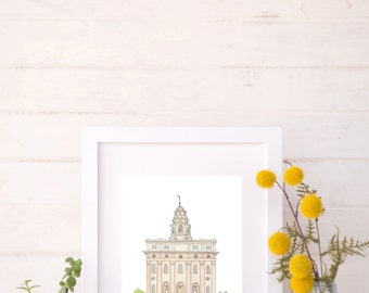 Nauvoo, Illinois LDS Water Color Temple Print