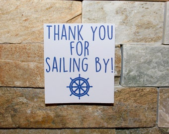 Set of 12 Thank You For Sailing By Party Favor Tags