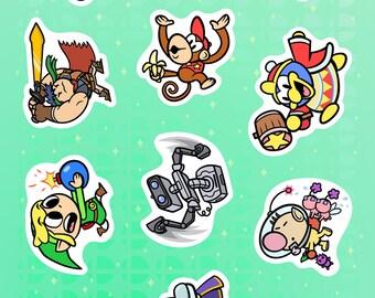 "Super Smash Bros 6x4"" Sticker Sheet #3"