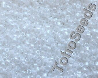 5g Toho 11/0 Treasure Cylinder Seeds Beads Opaque Lustered White TT-01-121 Cylinder Rocailles