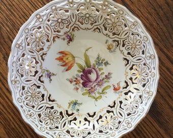 Vintage Dresden porcelain bowl