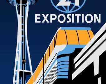 Seattle World's Fair - Poster Print