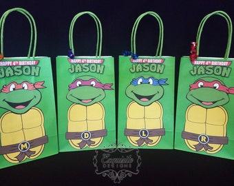 Teenage Mutant Ninja Turtles Favor Bags -- SET OF 4