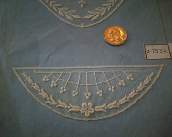 1920s antique net lace applique