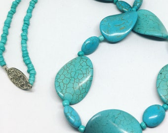 Turquoise wave necklace
