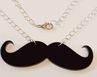 Movember Moustache Necklace Collection - Acrylic