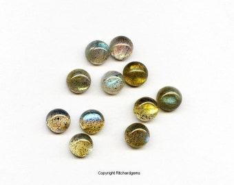 AAA 5 mm Calibrated Natural Labradorite cabochon For Two