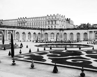 Paris black and white photography, Versailles, Versailles garden, Paris photography, Paris print, black and white photography, formal garden